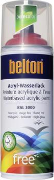 belton free PU Wasserlack 400 ml Feuerrot hochglänzend