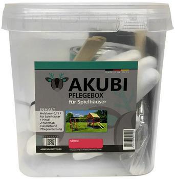 Akubi Pflegebox für Spielhäuser 750 ml Rubinrot