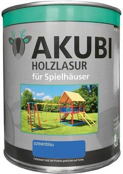 Akubi Pflegebox für Spielhäuser 750 ml Ozeanblau