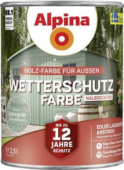 Alpina Wetterschutzfarbe 2,5 l salbeigrün