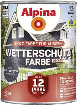 Alpina Wetterschutzfarbe 2,5 l anthrazitgrau