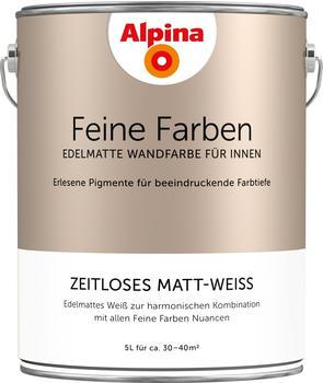 Alpina Feine Farben 5 l zeitloses matt-weiß