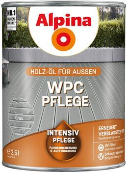Alpina WPC-Pflege seidenglänzend 2,5 l Grau