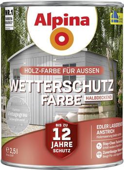 Alpina Wetterschutzfarbe halbdeckend 2,5 l vintagegrau