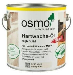 Osmo Hartwachs-Öl Rapid 2,5 l Weiß transparent