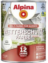 Alpina Farben Alpina Wetterschutzfarbe 2,5 l weiß