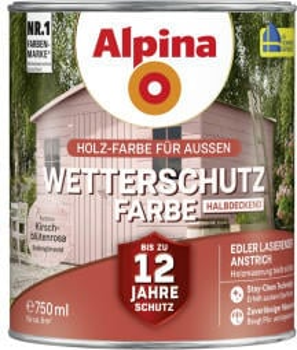 Alpina Farben Alpina Wetterschutzfarbe halbdeckend 0,75 l kirschblütenrosa