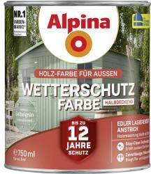 Alpina Farben Alpina Wetterschutzfarbe halbdeckend 0,75 l salbeigrün