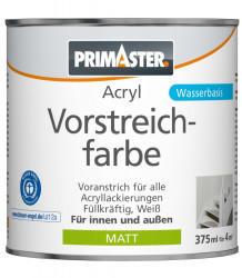 PRIMASTER Acryl Vorstreichfarbe 375 ml weiß matt