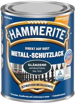 Hammerite Metall-Schutzlack glänzend 250 ml anthrazitgrau
