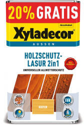 Xyladecor Holzschutz-Lasur 2in1 Kiefer 4+1 l