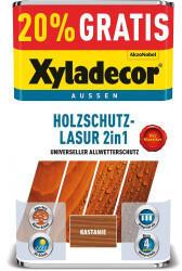 Xyladecor Holzschutzlasur 2in1 Kastanie 4+1l
