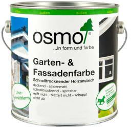 Osmo Garten und Fassadenfarbe 2,5 Liter Achatgrau