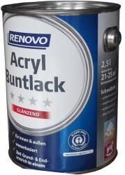 Renovo Acryl Buntlack Seidenmattlack 2 in 1 feuerrot 375 ml