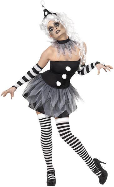 Smiffy's Sinister Pierrot Costume Gr. L (34226)