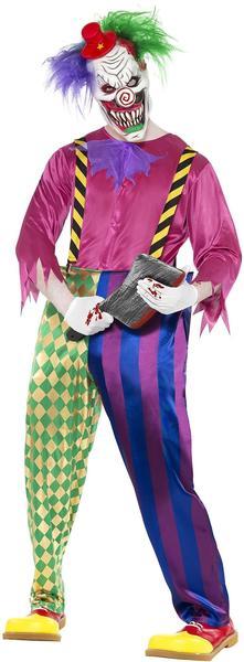 Smiffy's Kolorful Killer Klown Costume Gr. M (21623)