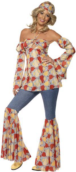 Smiffy's Vintage Hippy 1970'S Kostüm Gr. XL (39434)