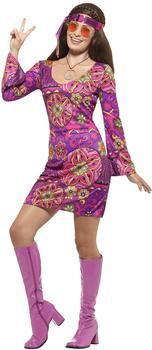 Smiffy's Woodstock Hippie Chick Kostüm Gr. XL (45519)