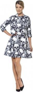 Smiffy's Totenkopf Kleid für Damen S