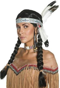 Smiffy´s Perücke Indianer mit Zöpfen