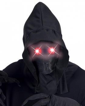Horror-Shop Faceless Maske mit leuchtend roten Augen (38087)