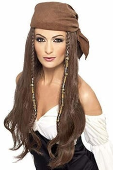 Smiffy's Long brown pirate wig