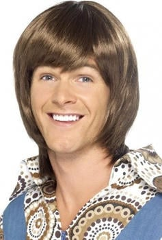 Smiffy's Brown 70s adult wig