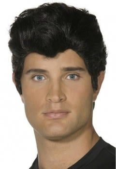 Smiffy's Black Grease adult wig
