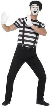 Smiffy's Mime adult costume with makeup