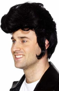 Smiffy's Black rock star adult wig