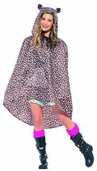 Smiffy's Leopard print adult rain poncho