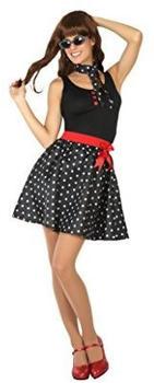 Atosa 50s black polka dot dress adult costume