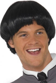 Smiffy's Short black bowl cut wig