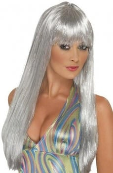 Smiffy's Silver long adult wig