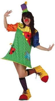 Atosa Colourful clown adult costume