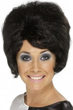 Smiffy's Black beehive adult wig