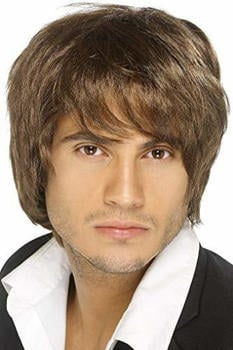 Smiffy's Boy band brown adult wig