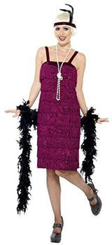 Smiffy's Jazz Flapper Costume burgundy