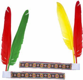 Widmann Indianer-Kopfschmuck mit 2 Federn