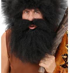 Widmann Deluxe Charakter Bart mit Schnurrbart schwarz