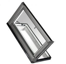 Roto WDA R38 Kunststoff Designo R3 Dachausstieg links blueLine Plus Aluminium 5/9 (54 x 98 cm)