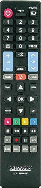 Schwaiger UFB100SA 533 Fernbedienung IR Wireless TV Drucktasten