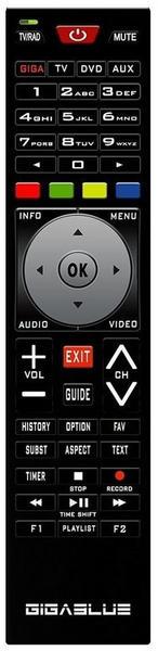 GigaBlue Remotecontrol V2 Universal