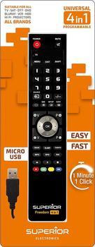 Freedom Input 8054242080124 Fernbedienung IR Wireless TV, Projektor, DVD/Blu-ray, Heimkinosystem Drucktasten