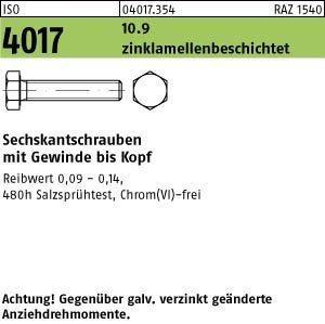 ISO 4017 10.9 M 10 x 90 flZn/nc/TL/x/480h/C flZn S