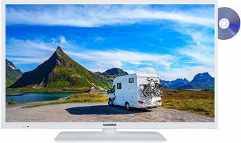 "Telefunken XH24E401VD-W 24"" Zoll) LED TV, , weiß"