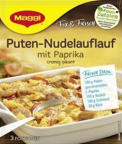 Maggi fix & frisch Puten-Nudelauflauf mit Paprika (42g)