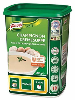 Knorr Champignon Cremesuppe Fertigsuppe Vegan Großpackung 900g