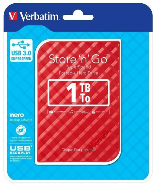 Verbatim Store 'n' Go USB 3.0 1TB rot