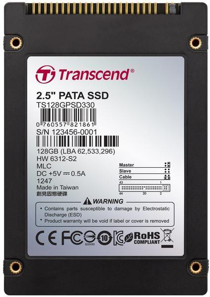 Transcend 2.5 PATA SSD MLC 128GB (TS128GPSD330)
